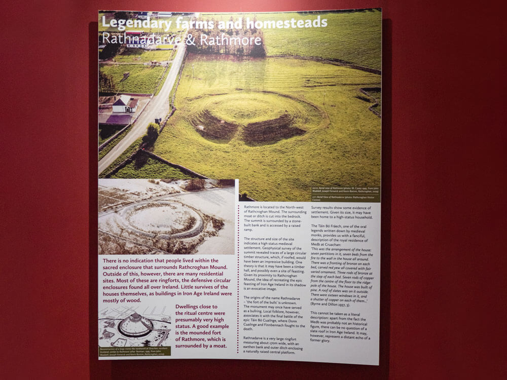 Rathmore legendary Farms information at exhibition of rathcroghan visitor centre