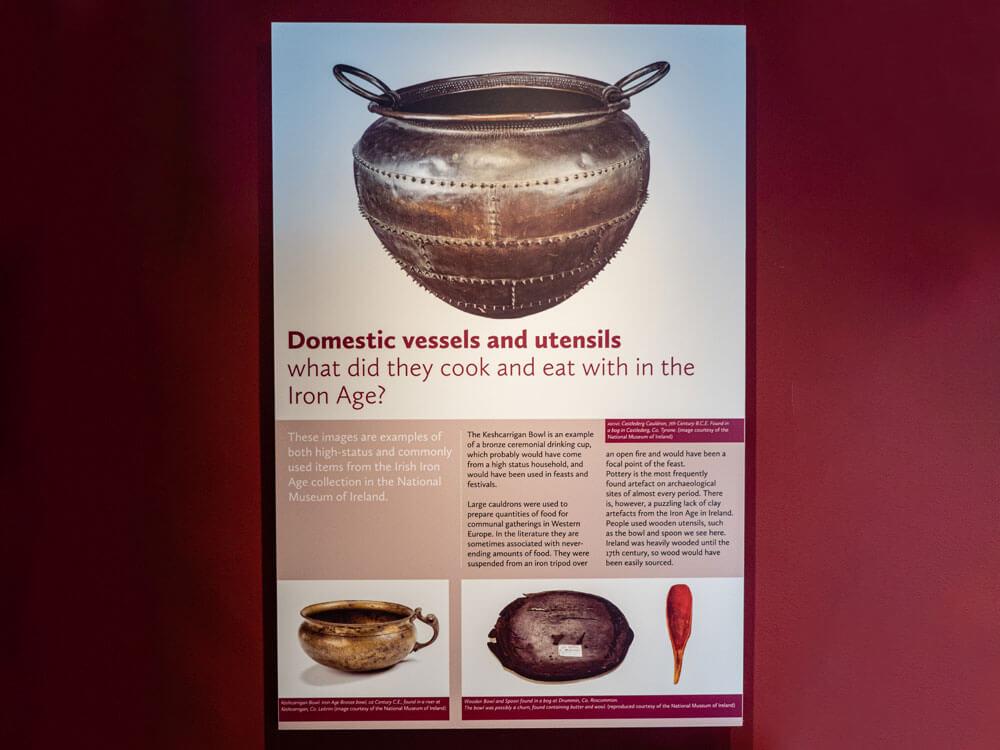vessels and utensils information showcase