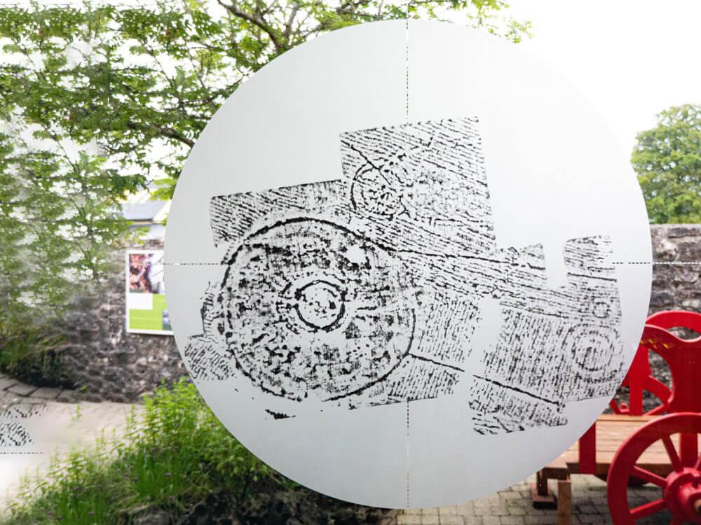 Pattern art at Rathcroghan Visitor Centre