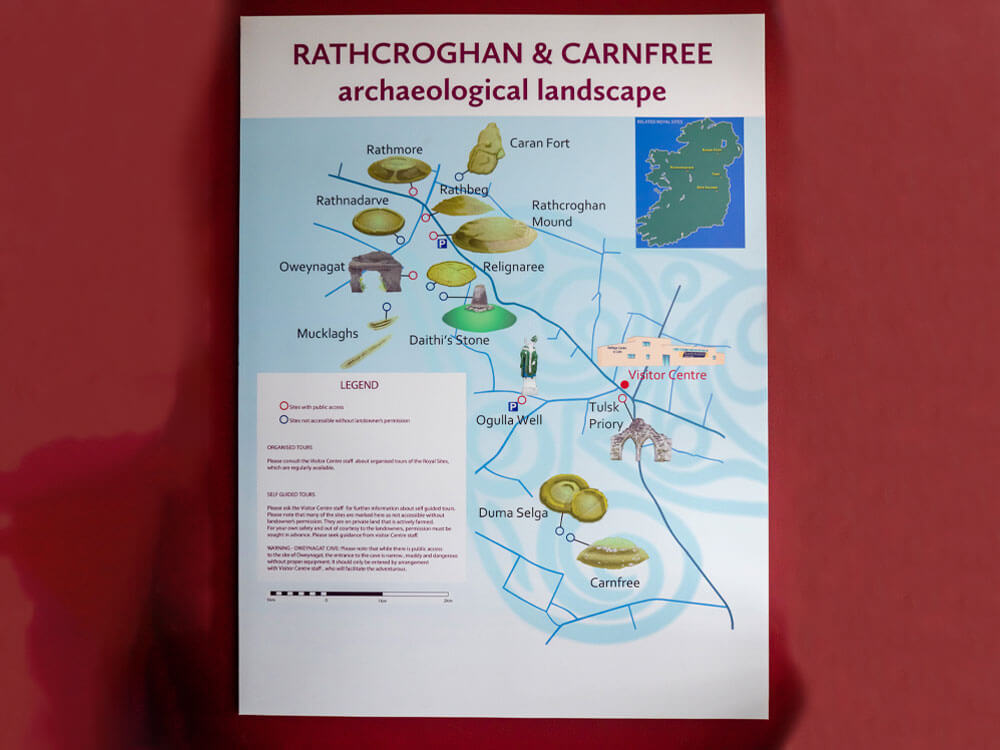 Archaeological Landscape at exhibition of Rathcroghan Visitor Centre