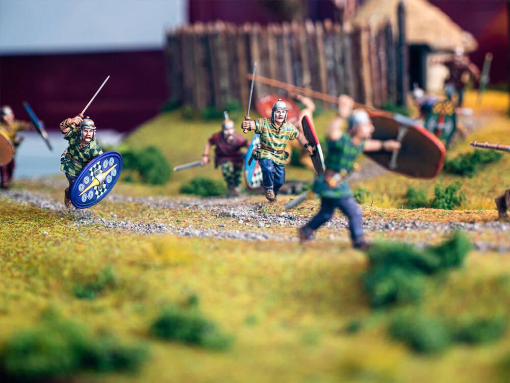 Miniature battle models at Rathcroghan Visitor Centre