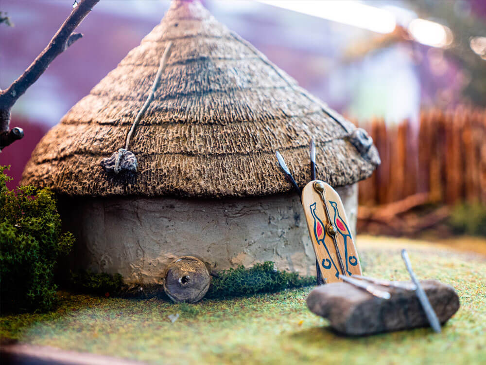 Miniature Mound at Rathcroghan Visitor Centre