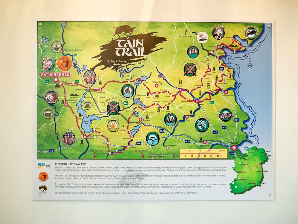 Tain trail map at Rathcroghan Visitor Centre