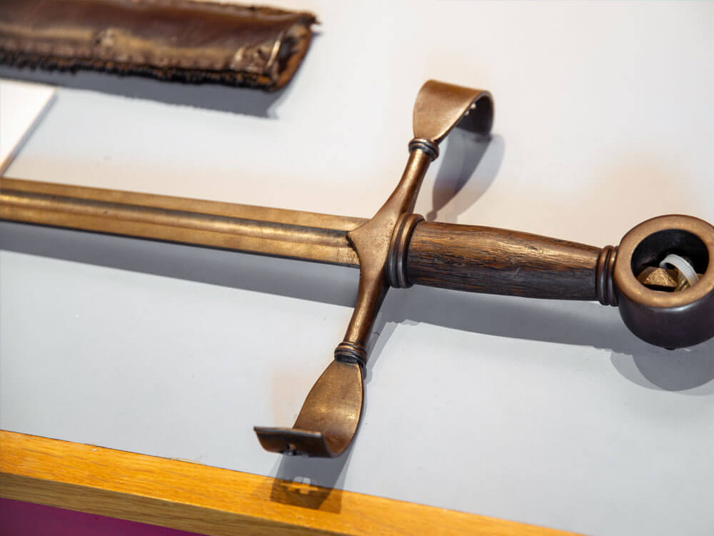 old sword at Rathcroghan Visitor Centre
