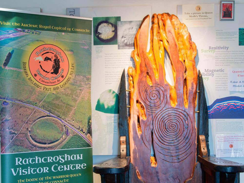 Interior of Exhibition at rathcroghan visitor centre