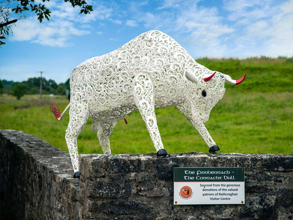 Bull Figurine in front of Rathcroghan Visitor Centre