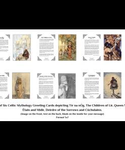 Pack Of 6 Celtic Mythology Greeting Cards