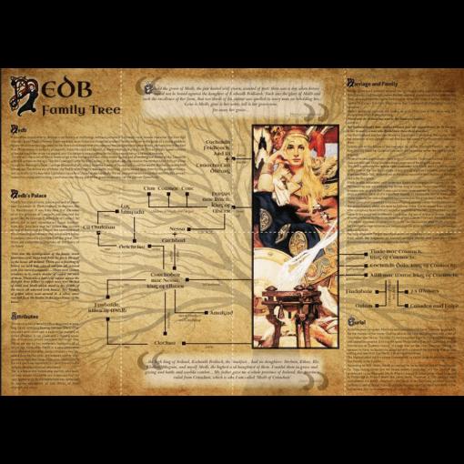 Queen Medb Family Tree Wallchart