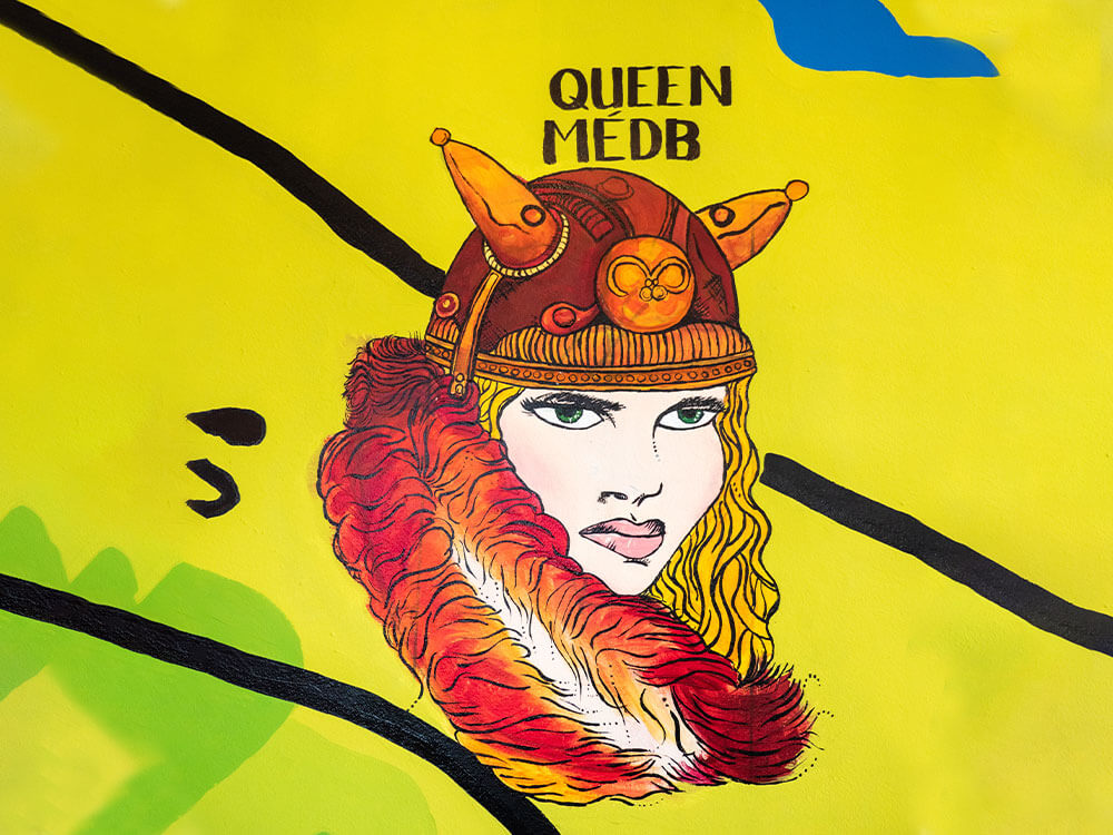Queen metb Painting at Tain cafe