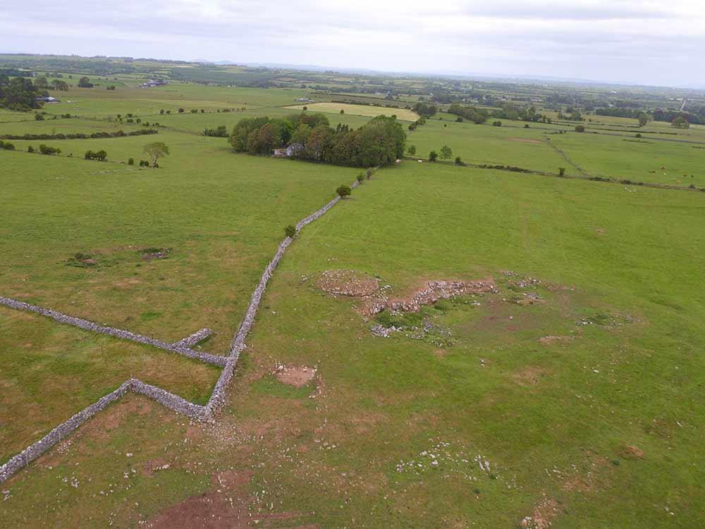 Aerial image of Carnfree at Rathcroghan