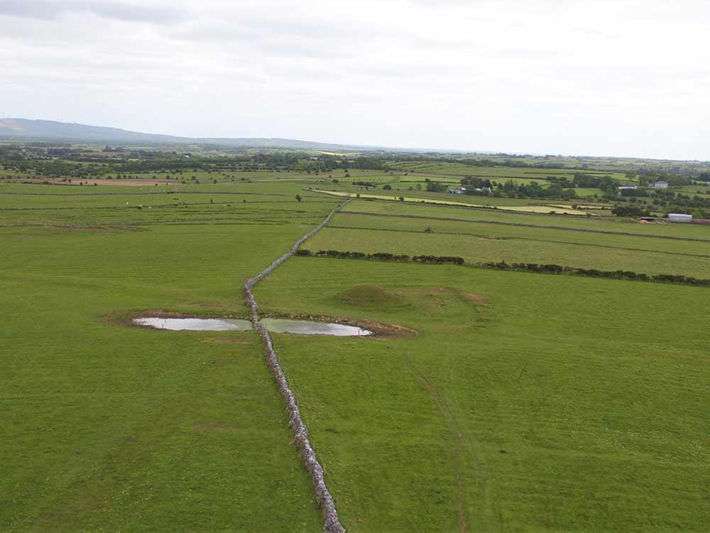 Aerial image of Carn Lamha at Rathcroghan