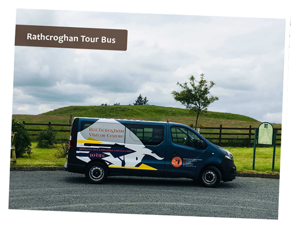 Tour bus of Rathcroghan Visiting Centre