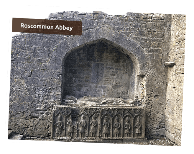 Rocommon Abbey Monument