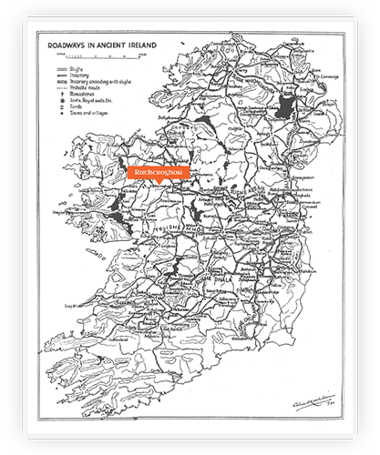 Ancient Ireland Roadways map