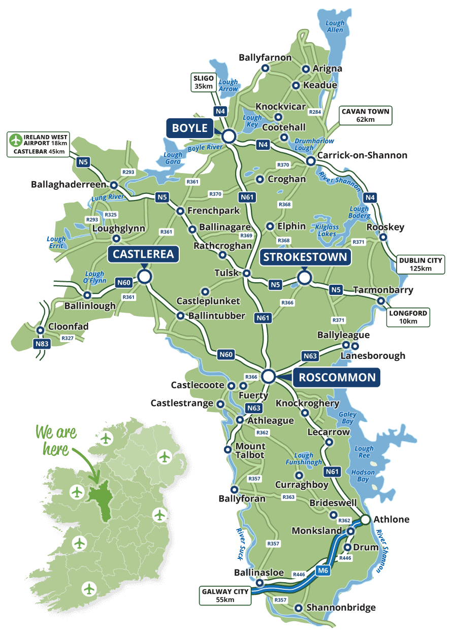 Roscommon-tourism-map