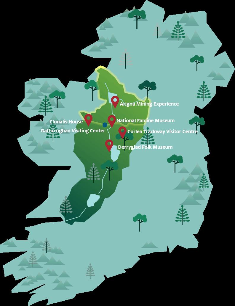 Ireland's Hidden Heartlands map