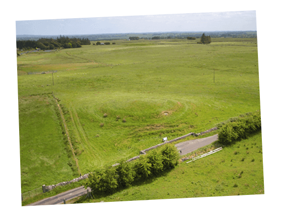 Aerial image of Rathcroghan mound